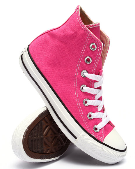 Ur-ID 220382 Converse - Men Pink Chuck Taylor All Star Hi Sneakers (Unisex)