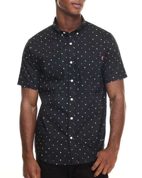 Ur-ID 220383 Acapulco Gold - Men Black Orion S/S Button-Down