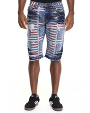 Shorts - American Flag Denim Short