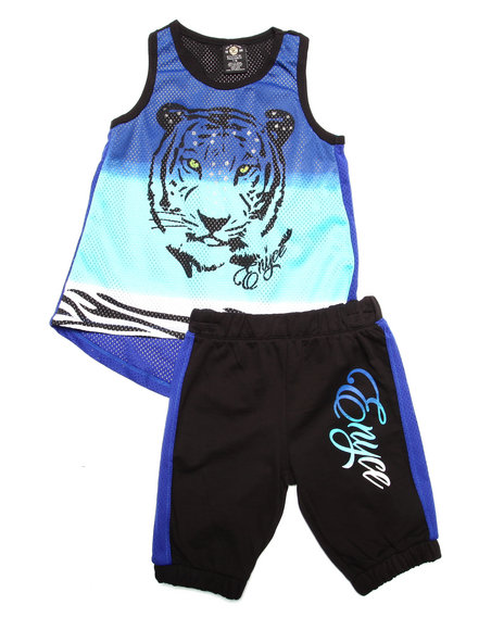 Enyce - Girls Multi 2 Pc Bermuda Jogger Set (7-16) - $32.00