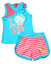 Apple Bottoms - 2 PC LOVE TANK & SHORTS (2T-4T)