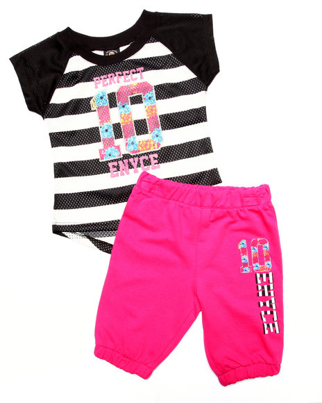 Enyce - Girls Multi 2 Pc Bermuda Jogger Set (7-16) - $28.99