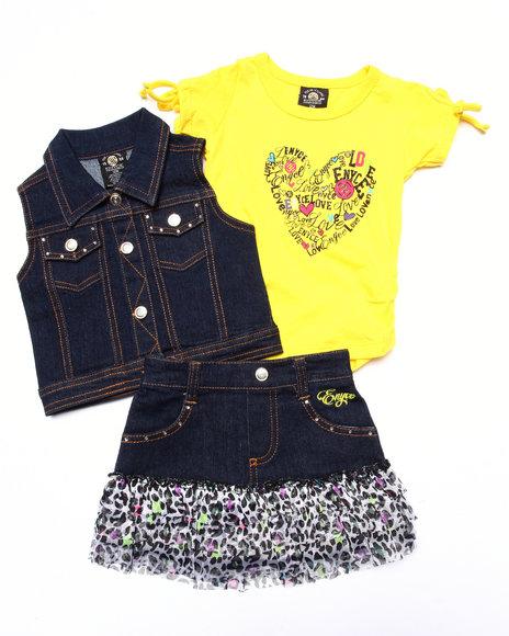 Enyce - Girls Multi 3 Pc Vest & Skirt Set (Infant)