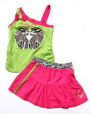 Sizes 4-6x - Kids - 2 PC ZEBRA TANK & SKIRT (4-6X)