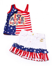Sets - 2 PC AMERICANA SKIRT SET (INFANT)