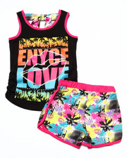 Sets - 2 PC TROPICAL SHORTS SET (7-16)