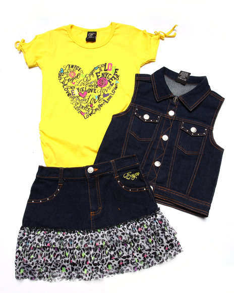 Enyce - Girls Multi 3 Pc Vest & Skirt Set (7-16) - $35.99