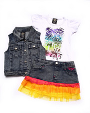 Girls - 3 PC VEST & SKIRT SET (INFANT)