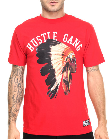 Hustle Gang - Men Red Queen Tee