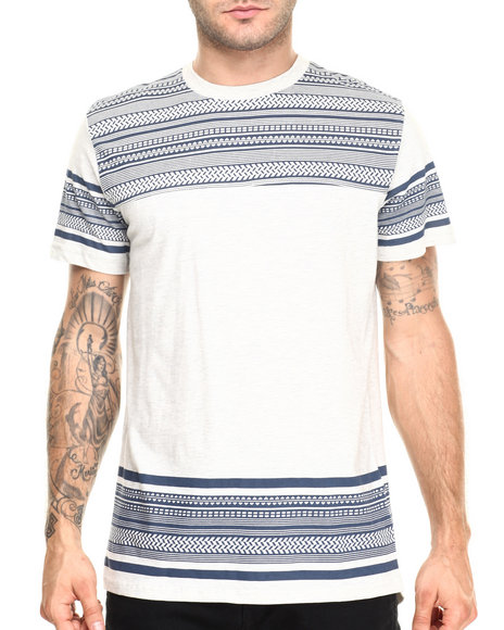 Ur-ID 220406 Buyers Picks - Men Light Grey Cut & Sew Scoop Tail S/S Tee