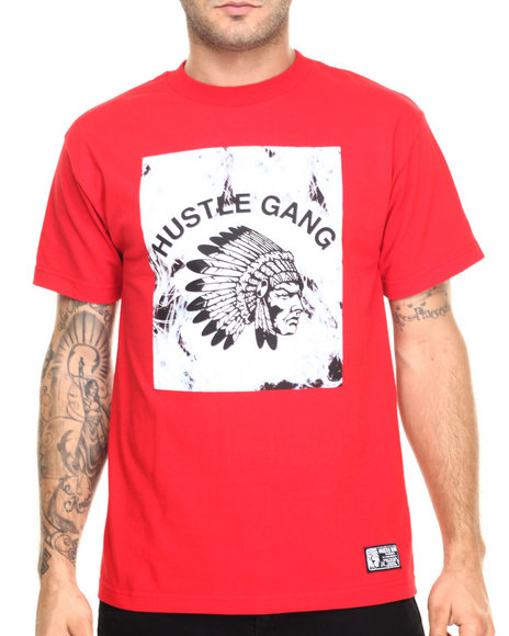 Ur-ID 220410 Hustle Gang - Men Red Session Tee