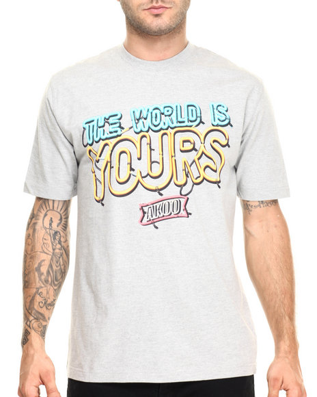 Ur-ID 220452 AKOO - Men Grey The World Is Yours Tee