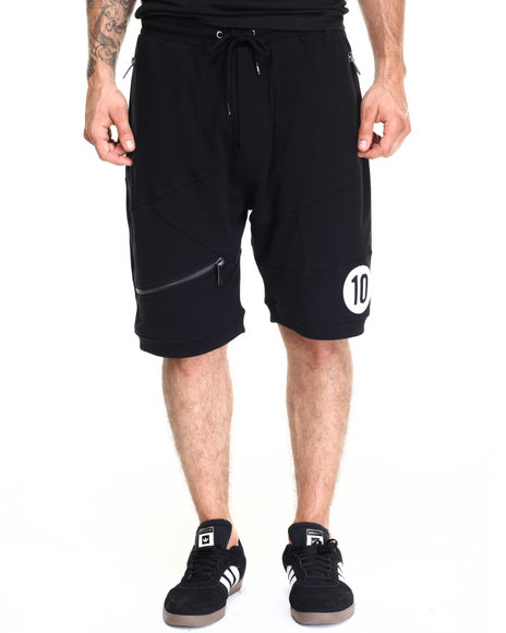 Ur-ID 220448 AKOO - Men Black Black Out Knit Shorts