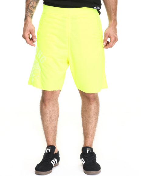 Ur-ID 220457 Hustle Gang - Men Neon Yellow Tonal Chief Shorts