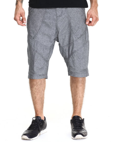 Ur-ID 220459 AKOO - Men Black Andretti Chambray Shorts