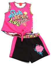 Apple Bottoms - 2 PC GRAFFITI TANK & SHORTS (2T-4T)