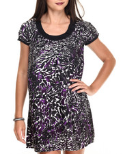 Dresses - Animal Print T-Shirt Dress