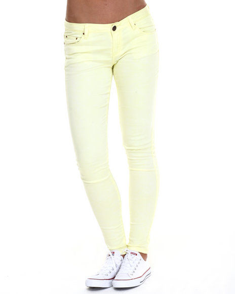 Fashion Lab - Women Yellow Tie Dye Wash Denim Jean