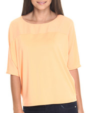 Tops - Sheer Yoke Angel Wing Top