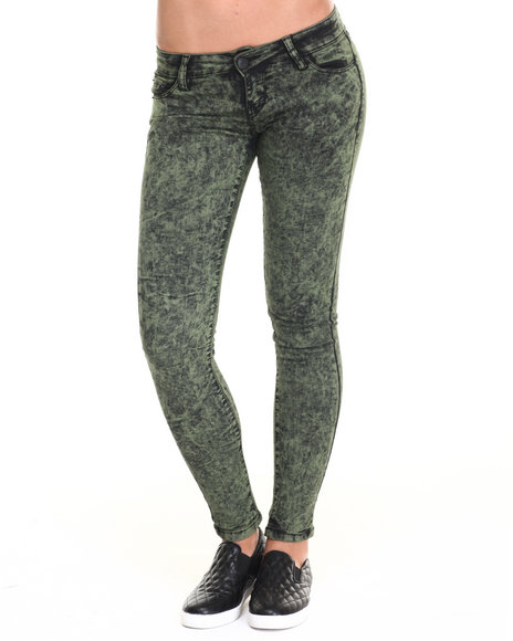 Basic Essentials Green Jeans