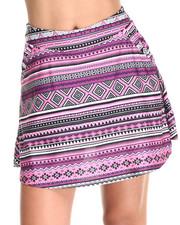 Skirts - Aztec Print Skater Skort
