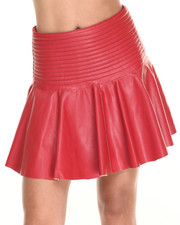 Skirts - Vegan Leather Skater Skirt