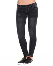 Basic Essentials - Black Tie Skinny Jean