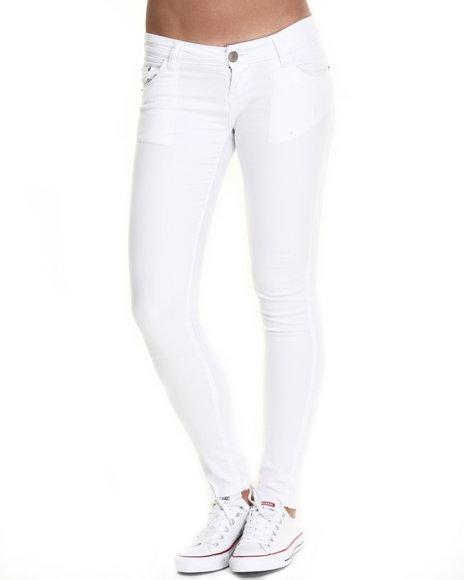 Ur-ID 220533 Basic Essentials - Women White Classic White Skinny Jean