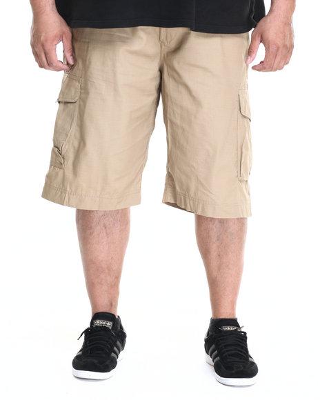 Rocawear - Men Khaki Jefe Belted Ripstop Cargo Shorts (B&T)