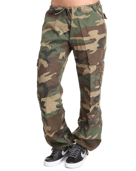 Ur-ID 220467 Rothco - Women Camo Rothco Womens Camo Vintage Paratrooper Fatigue Pants