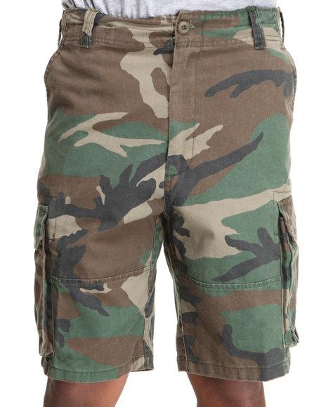 Rothco - Men Camo Rothco Vintage Camo Paratrooper Cargo Shorts