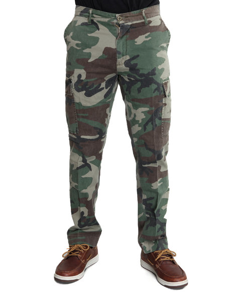 Rothco Men Vintage 6-pocket Flat Front Fatigue Pants Camo 44
