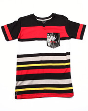 Boys - STRIPED V-NECK POCKET TEE (8-20)