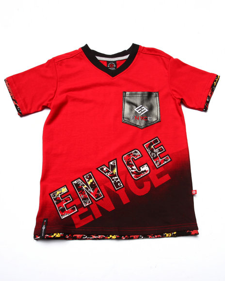 Enyce - Boys Red V-Neck Pocket Tee (8-20) - $17.99