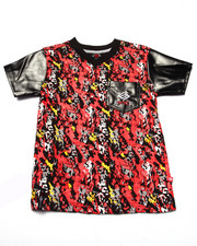 Tops - SPLATTER V-NECK TEE (4-7)