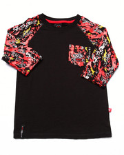 Sizes 4-7x - Kids - SPLATTER RAGLAN TEE (4-7)