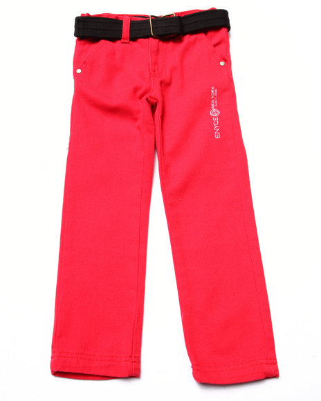 Enyce - Boys Red Belted Twill Jeans (4-7)