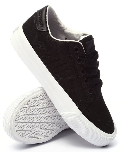 Ur-ID 220534 Supra - Women Black Belmont Waxed Canvas Low Cut Sneakers
