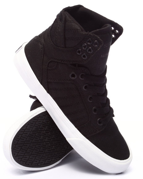Ur-ID 220535 Supra - Women Black Skytop Black Waxed Canvas Sneaker