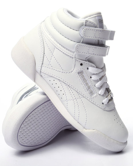 Reebok - Girls White Freestyle High Sneakers (11-3)
