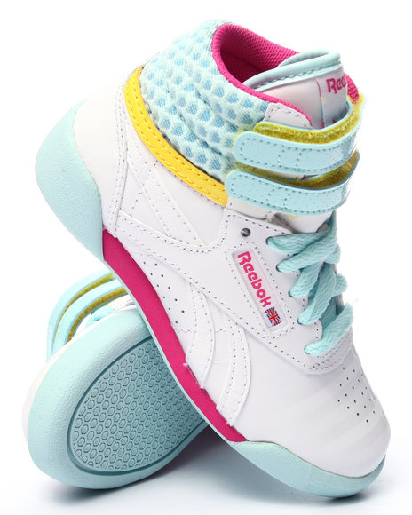 Reebok - Girls White Freestyle High Sneakers (11-3) - $50.00