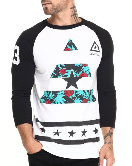 Ur-ID 220480 Asphalt Yacht Club - Men Black,White Ayc X Snoop Dogg Sweet Kush Delta Raglan Tee