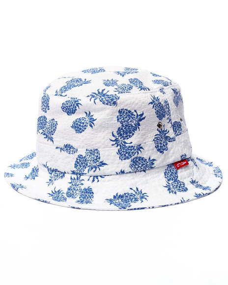 Ur-ID 220536 Acapulco Gold - Men White Belize Bucket Hat
