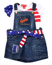 Apple Bottoms - 2 PC AMERICANA SHORTALL SET (4-6X)