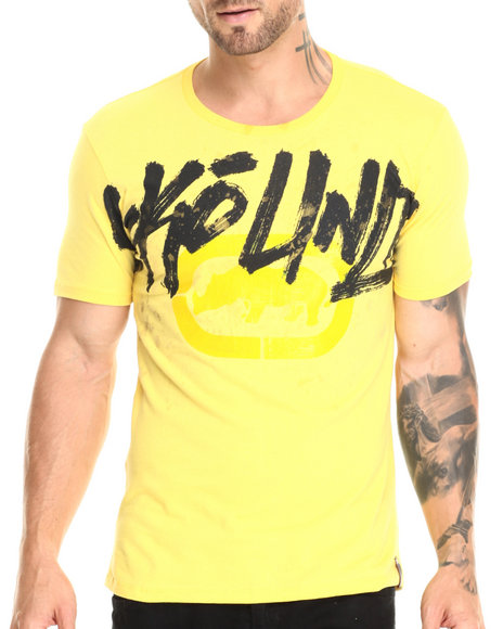 Ecko - Men Yellow Shoulder To Shoulder T-Shirt