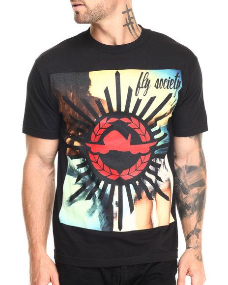 Ur-ID 220550 Flysociety - Men Black Crosshairs T-Shirt
