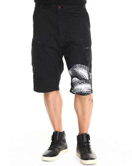 Ur-ID 220577 AKOO - Men Black Monte Carlo Twill Shorts