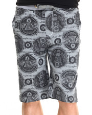 Basic Essentials - Almighty Dollar Printed Cotton Shorts