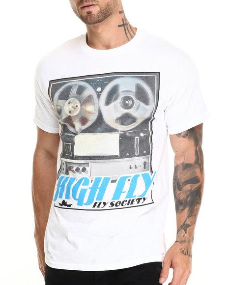 Flysociety - Men White High Fly T-Shirt