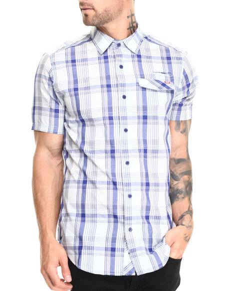 Ecko - Men Blue Intent S/S Button-Down